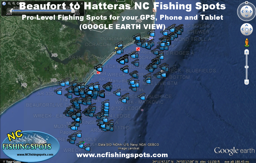 Hatteras And Outer Banks Fishing Spots Beaufort To