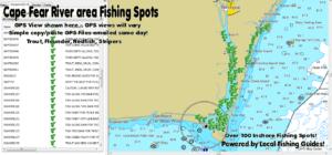Cape Fear River Fishing Spots Map