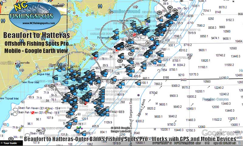 beaufort-hatteras-outer-banks-nc-fishing-map